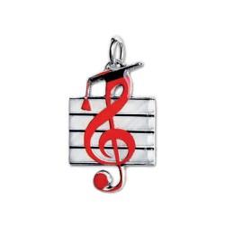 ciondolo chiave di violino smaltato