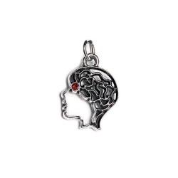 ciondolo cervello con cristallo