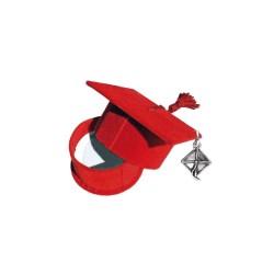 scatola tocco rosso con tocco